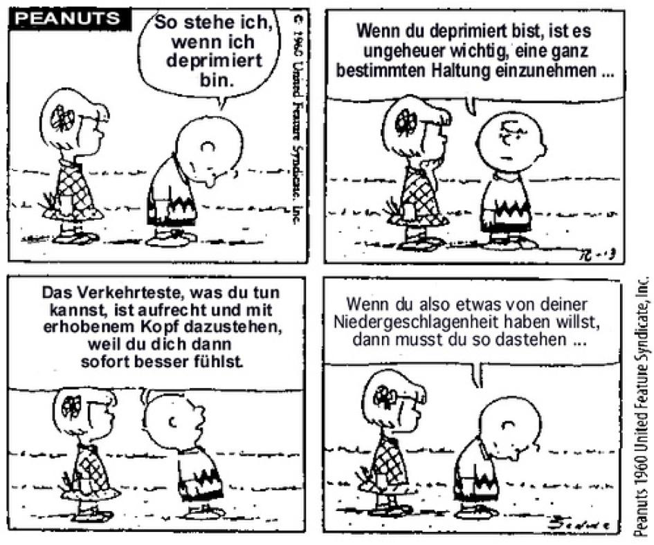 Peanuts Comic über deprimierte Haltung